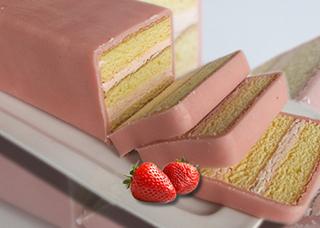 Gebakje in een Plakje - Aardbeiensmaak